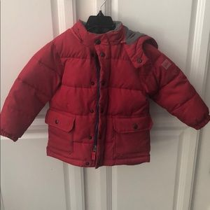 Baby Gap boys size 4 red puffer jacket